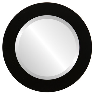 Beveled Mirror - Soho Round Frame - Matte Black