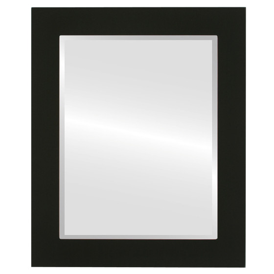 Beveled Mirror - Soho Rectangle Frame - Matte Black