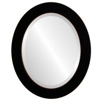 Beveled Mirror - Soho Oval Frame - Rubbed Black
