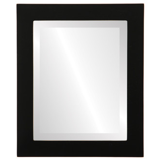 Beveled Mirror - Soho Rectangle Frame - Rubbed Black