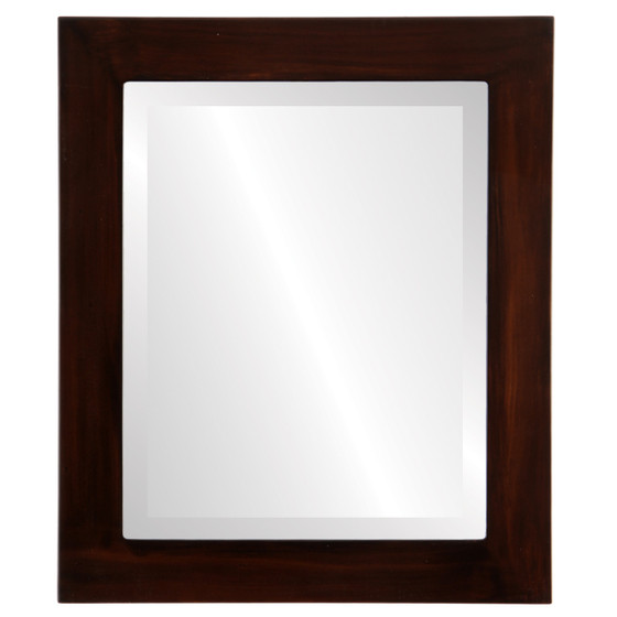 Beveled Mirror - Soho Rectangle Frame - Mocha