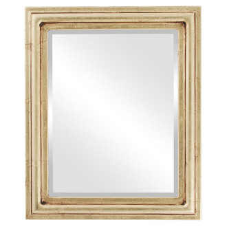 Beveled Mirror - Philadelphia Rectangle Frame - Gold Leaf