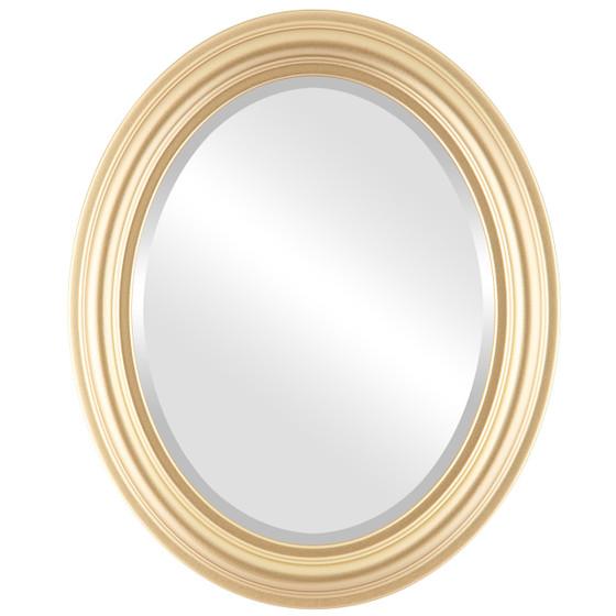Beveled Mirror - Philadelphia Oval Frame - Gold Spray