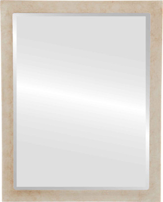 Beveled Mirror - Manhattan Rectangle Frame - Burnished Silver