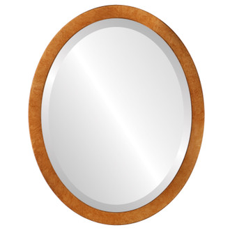 Beveled Mirror - Manhattan Oval Frame - Burnished Gold