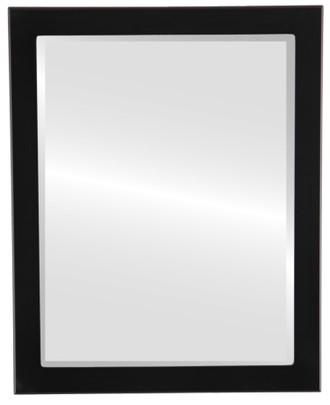 Beveled Mirror - Manhattan Rectangle Frame - Matte Black