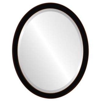 Beveled Mirror - Manhattan Oval Frame - Rubbed Black