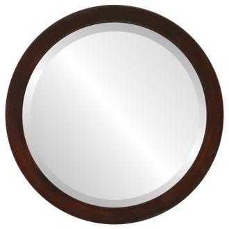 Beveled Mirror - Manhattan Round Frame - Mocha
