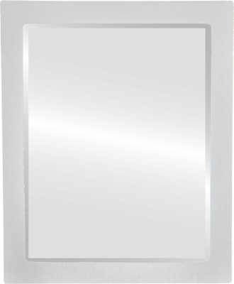 Beveled Mirror - Manhattan Rectangle Frame - Bright Silver