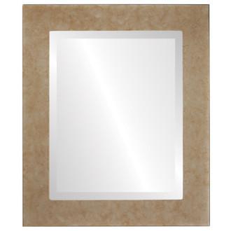 Beveled Mirror - Avenue Rectangle Frame - Burnished Silver