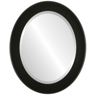 Beveled Mirror - Avenue Oval Frame - Matte Black