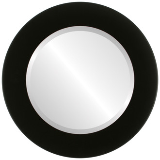 Beveled Mirror - Avenue Round Frame - Matte Black