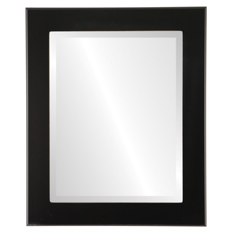 Beveled Mirror - Avenue Rectangle Frame - Matte Black