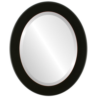 Beveled Mirror - Avenue Oval Frame - Rubbed Black