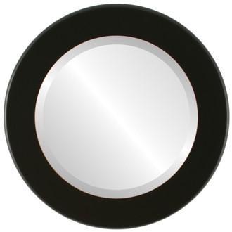 Beveled Mirror - Avenue Round Frame - Rubbed Black