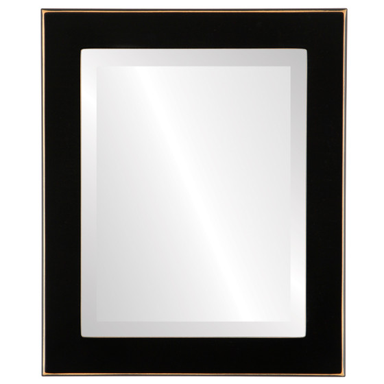 Beveled Mirror - Avenue Rectangle Frame - Rubbed Black