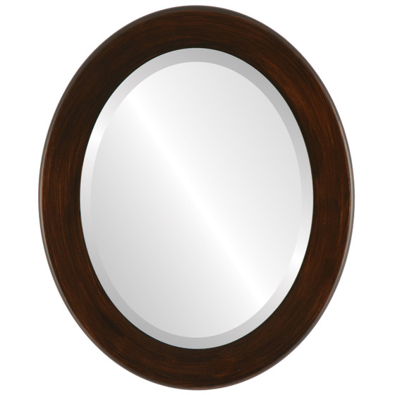 Beveled Mirror - Avenue Oval Frame - Mocha