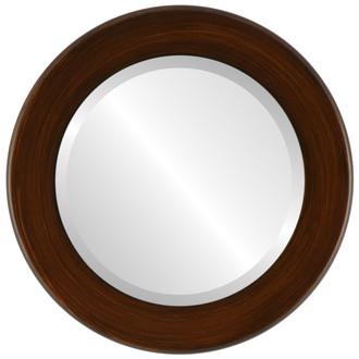 Beveled Mirror - Avenue Round Frame - Mocha