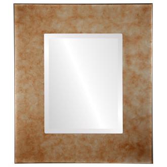 Beveled Mirror - Boulevard Rectangle Frame - Burnished Silver