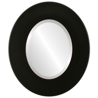 Beveled Mirror - Boulevard Oval Frame - Rubbed Black