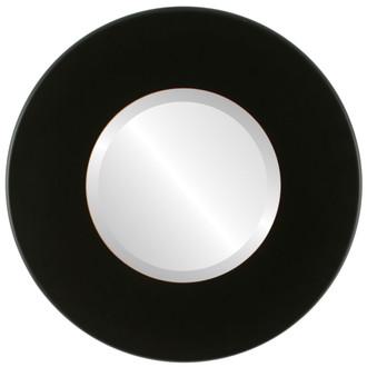 Beveled Mirror - Boulevard Round Frame - Rubbed Black