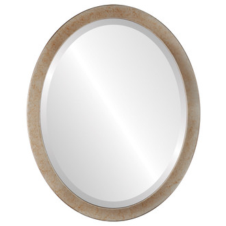 Beveled Mirror - Vienna Oval Frame - Burnished Silver