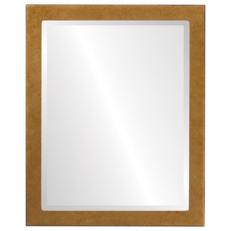 Beveled Mirror - Vienna Rectangle Frame - Burnished Gold