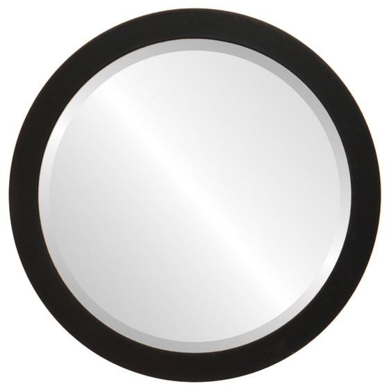Beveled Mirror - Vienna Round Frame - Matte Black