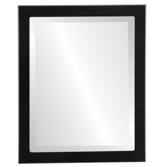 Beveled Mirror - Vienna Rectangle Frame - Matte Black