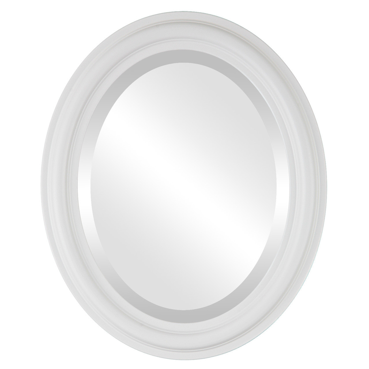 Contemporary White Oval Mirrors from $119 | Free Shipping