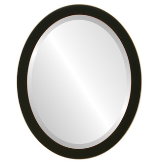 Beveled Mirror - Vienna Oval Frame - Rubbed Black