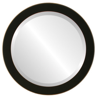Beveled Mirror - Vienna Round Frame - Rubbed Black