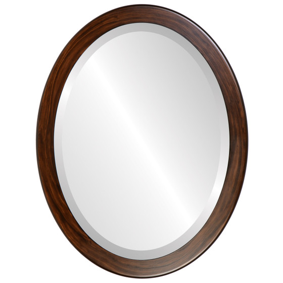 Beveled Mirror - Vienna Oval Frame - Mocha