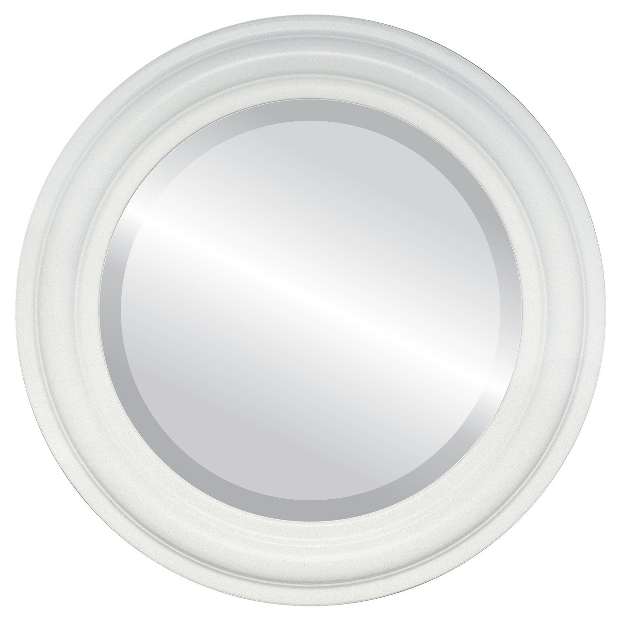 Contemporary White Round Mirrors from $119 | Free Shipping