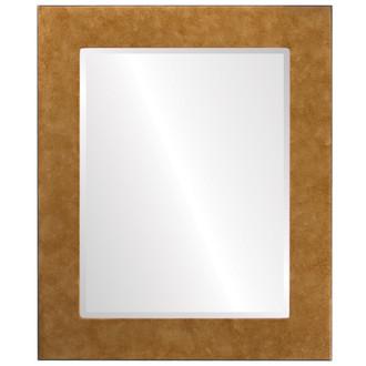 Beveled Mirror - Cafe Rectangle Frame - Burnished Gold