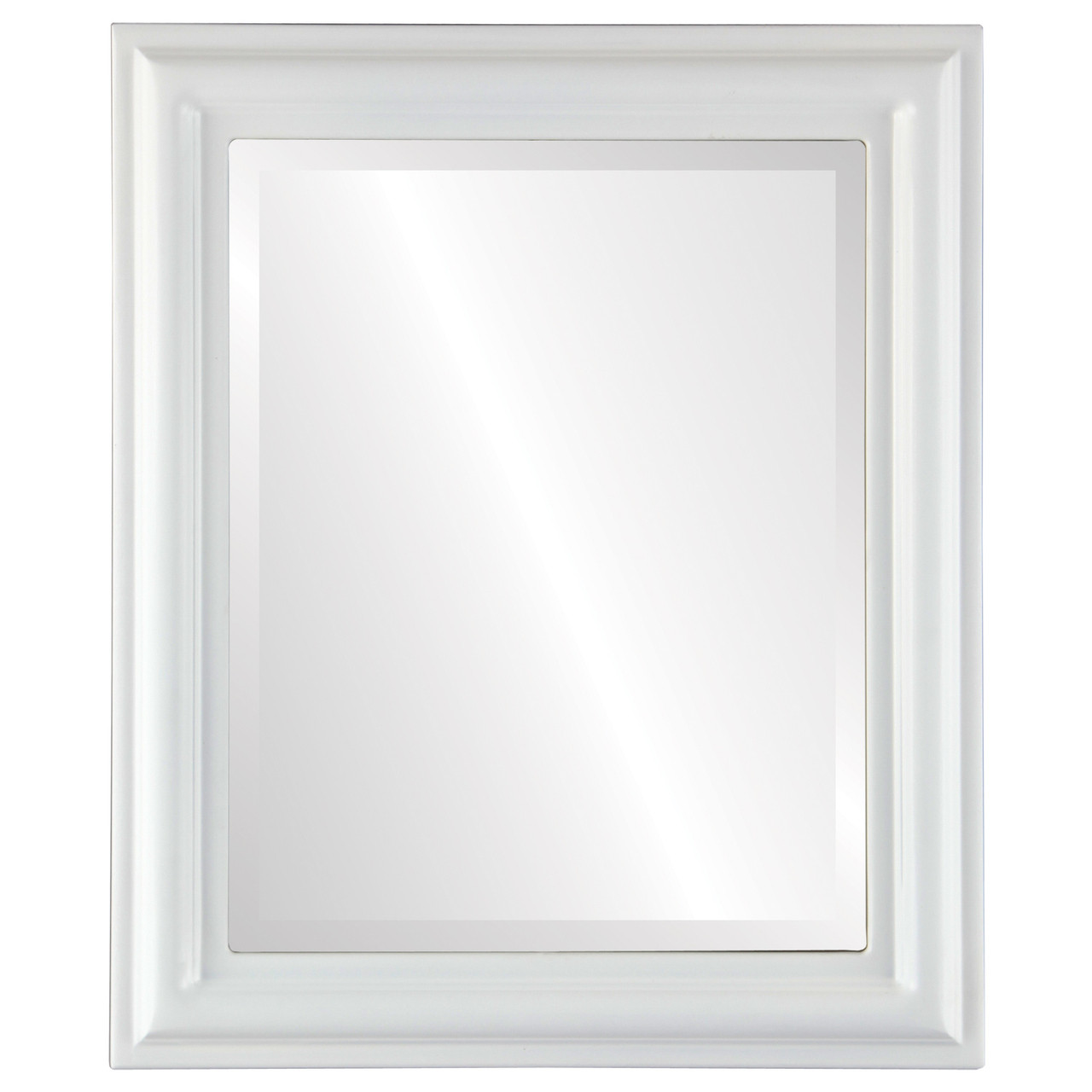 Contemporary White Rectangle Mirrors from $119 | Free Shipping