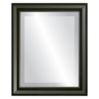 Beveled Mirror - Newport Rectangle Frame - Matte Black