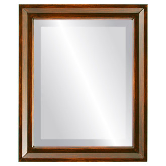 Beveled Mirror - Newport Rectangle Frame - Mocha