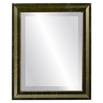 Beveled Mirror - Newport Rectangle Frame - Veined Onyx