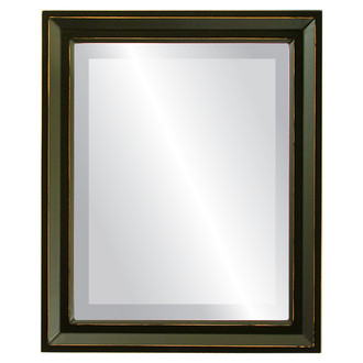 Beveled Mirror - Newport Rectangle Frame - Rubbed Black
