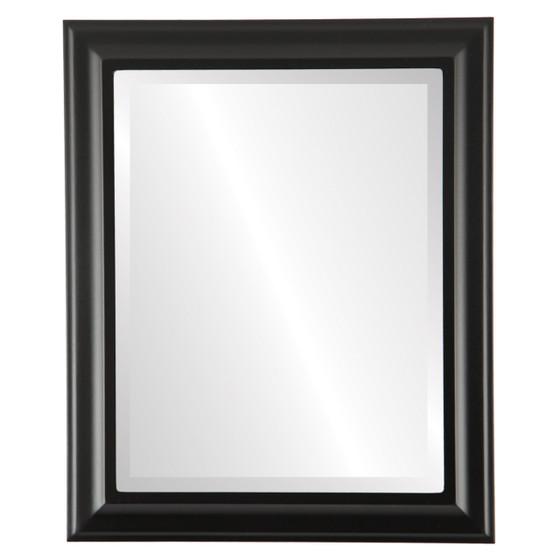 Beveled Mirror - Messina Rectangle Frame - Matte Black