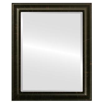 Beveled Mirror - Messina Rectangle Frame - Veined Onyx
