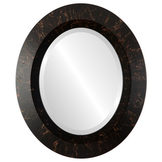 Beveled Mirror - Veneto Oval Frame - Veined Onyx