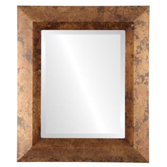 Beveled Mirror - Veneto Rectangle Frame - Venetian Gold