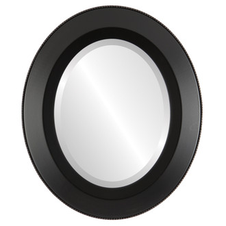 Beveled Mirror - Lombardia Oval Frame - Matte Black