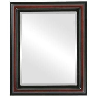 Beveled Mirror - Philadelphia Rectangle Frame - Rosewood