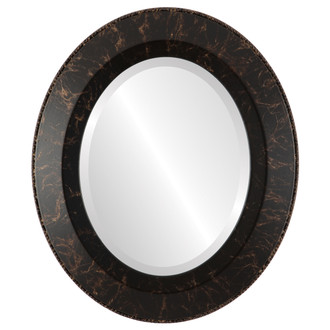 Beveled Mirror - Lombardia Oval Frame - Veined Onyx