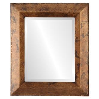Beveled Mirror - Lombardia Rectangle Frame - Venetian Gold