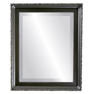 Beveled Mirror - Kensington Rectangle Frame - Matte Black