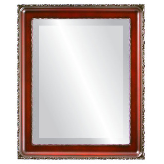 Beveled Mirror - Kensington Rectangle Frame - Rosewood